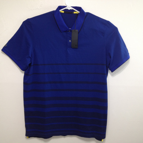 5fa7ac41 Greyson Shirts | Mens Golf Polo Shirt Blue Black Stripes Xl | Poshmark